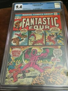 FANTASTIC FOUR 140 CGC 9.4 WHITE PAGES ORIGIN ANNIHILUS BUSCEMA MARVEL COMICS