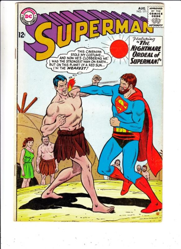 Superman #171 (Aug-64) VF- High-Grade Superman, Jimmy Olsen,Lois Lane, Lana L...