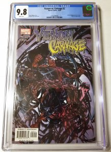 Venom vs. Carnage #2 CGC 9.8 White Pages Clayton Crain 1st Toxin FREE SHIPPING