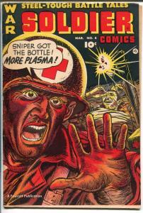 Soldier #8 1953-Fawcett-violent-Korean War-Parade of Pleasure-GOOD/VG