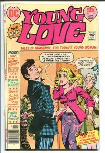 YOUNG LOVE #122-DC ROMANCE-GOOD ISSUE-SLAP COVER! FN