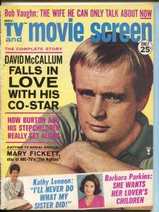 TV Movie Screen-David McCallum-Barbara Parkins-Bob Vaughn-Nov-1965