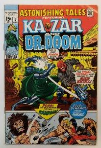 Astonishing Tales #5 Featuring Kazar & Dr. Doom Marvel Bronze Age 1971  FN-