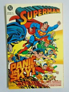 Superman Panic in the Sky #1 First 1st Edition rear price tag 6.0 FN (1993)