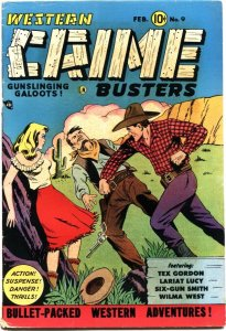 WESTERN CRIME BUSTERS #9-1950-TWO WALLY WOOD STORIES-WILMA WEST APPEARS