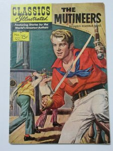 Classics Illustrated- 122 The Mutineers by Charles Boardman Hawes HRN 146 3rd Ed