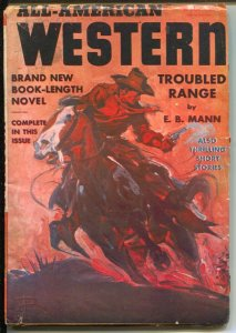 All-American Western #1 12/1940-1st issue-Trouble Ranger-E. B. Mann-rare-FN-