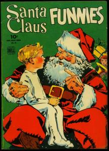 SANTA CLAUS FUNNIES-DELL FOUR COLOR #61-1944-CHRISTMAS FN/VF