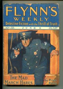 FLYNN'S WEEKLY DETECTIVE FICTION-JUNE 5 1926-PULP-LEROUX-CRIME-good/vg