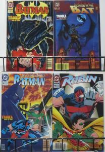 BATMAN: TROIKA COMPLETE! 4-part crossover w/KGBeast! Doug Moench,Alan Grant!