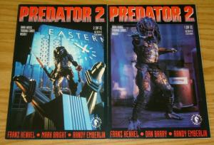 Predator 2 #1-2 FN/VF complete series - dark horse comics - adapts movie set lot