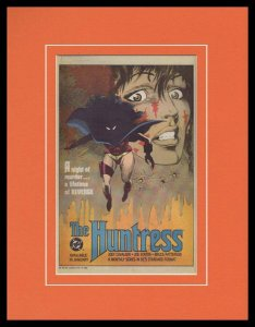 The Huntress 1988 DC Comics 11x14 Framed ORIGINAL Vintage Advertisement