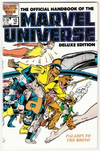 Official Handbook of the Marvel Universe #10 Deluxe Edition (1986) VF/NM