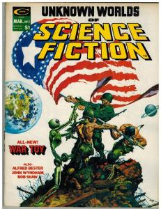 UNKNOWN WORLDS OF SCIENCE FICTION 2 VG Mar. 1975