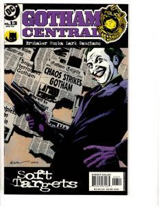 Lot Of 10 Gotham Central DC Comic Books # 13 18 19 20 21 22 23 25 26 28 CR23