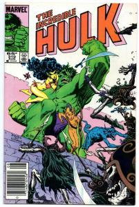 HULK #310, VF+, Incredible, Bruce Banner, Williamson, 1968 1985, Marvel, UPC