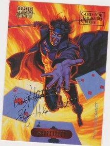 1994 Marvel Masterpieces Gold Foil Signature Series #41 Gambit/Hilderbrandt