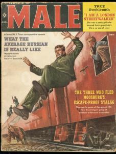 MALE MAGAZINE AUG 1960-SAM POLLEN-CHEESECAKE-NAZI WW II G/VG