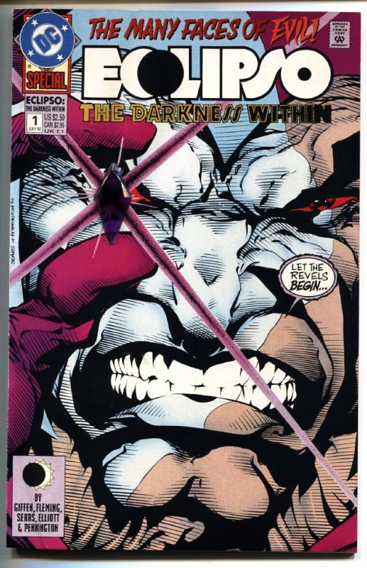 Eclipso: The Darkness Within #1 comic book - Lobo issue comic book DC 1992