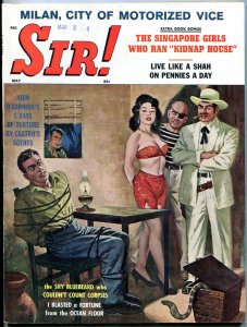 Sir! Magazine May 1961- Rochelle Lofting- John O'Bannion- Chippy Patterson