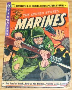 United States Marines #5 GD/VG golden age magazine enterprises A-1 55 1952 war