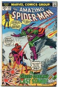 Amazing Spider-man #122 1973- Death of Green Goblin Key issue VG+