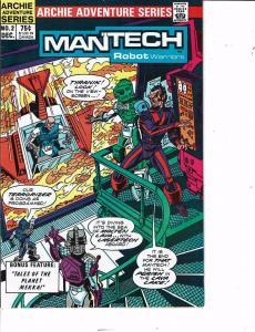 Lot Of 2 Man'Tech Robot Warriors Archie Comic Books #2 4  BH50