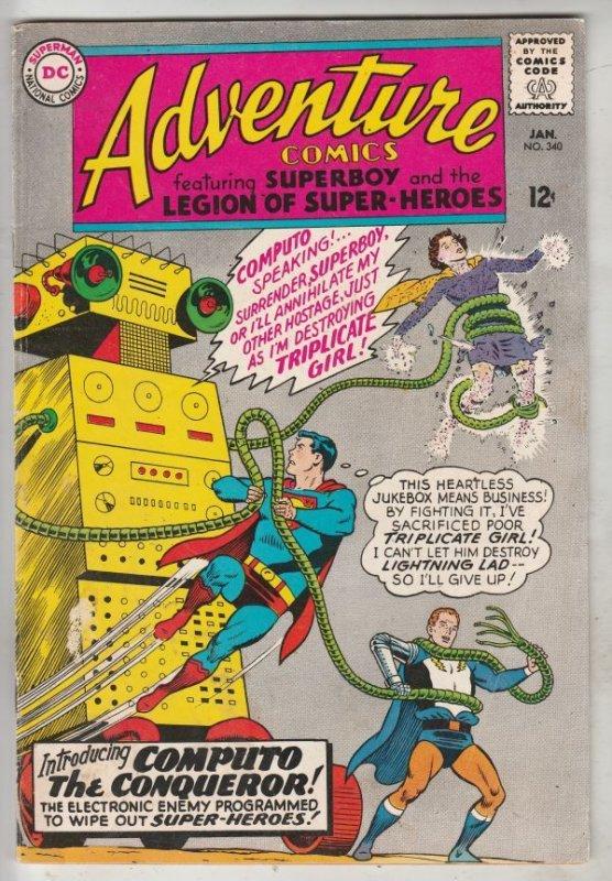 Adventure Comics #340 (Jan-66) VF/NM High-Grade Legion of Super-Heroes, Superboy