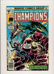 Marvel 1977 THE CHAMPIONS#13 Ghost Rider/Iceman/Black Widow FINE (PF890)