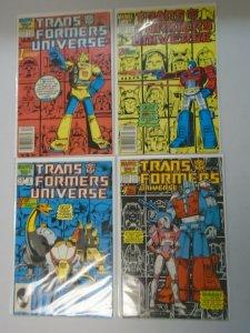 Transformers Universet set #1-4 avg 6.0 FN (1986)