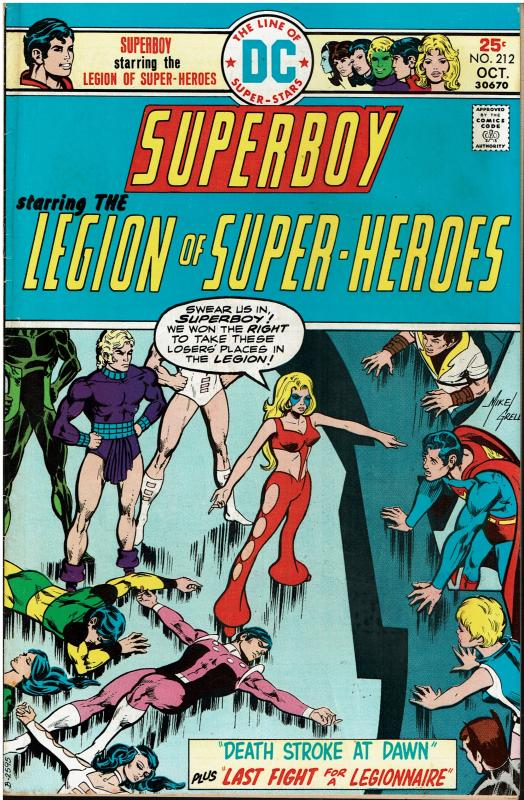 Superboy and the Legion of Super Heroes #212, 6.0 or better