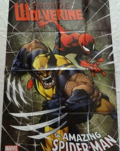 SAVAGE WOLVERINE AMAZING SPIDER-MAN Promo Poster 24 x 36 2013 MARVEL Unused 302