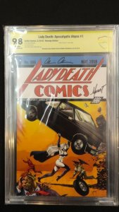 Lady Death Apocalyptic Abyss #1 Graded CBCS 9.8 Signed by Pulido Mychaels