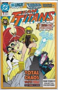 Team Titans   vol. 1   # 1 VF (Total Chaos 3) Wolfman/Jimenez