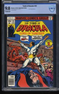 Tomb of Dracula #63 CBCS NM/M 9.8 Off White to White