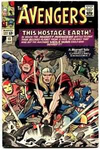AVENGERS #12-comic book JACK KIRBY-SILVER-AGE MARVEL-1965-THOR-vg+