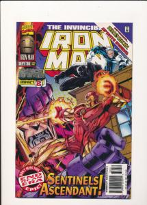 Marvel Comics IRON MAN Sentinels Ascendant #332 Sept '96  VF(SIC585)