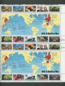World War II US Postage Stamp Commemorative Sheet (SET 1990 - 1993