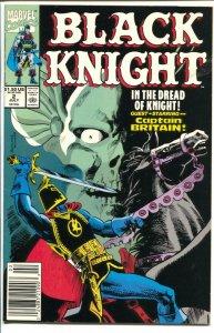 Black Knight #2 1990 Marvel-Captain Britain appears-VF