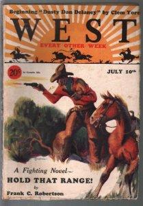 Short Stories 7/10/1929-Doubleday-Dusty Dan Delaney-Reusswig cover-VG+