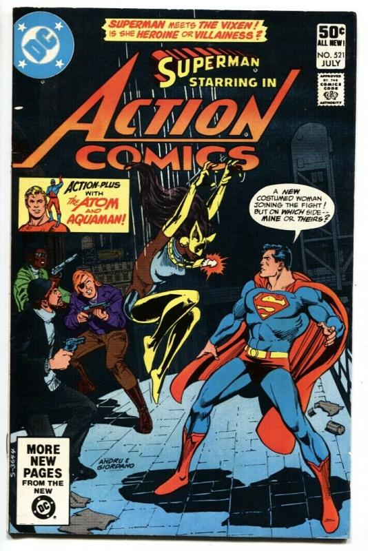 ACTION #521-1981-1st appearance VIXEN-SUPERMAN-VF+