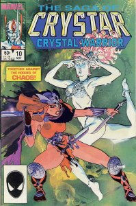 Saga of Crystar, The Crystal Warrior #10 VG; Marvel   low grade comic - save on
