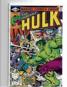 The Incredible Hulk #255 VF - (Jan. 1981, Marvel) Hulk vs. Thor