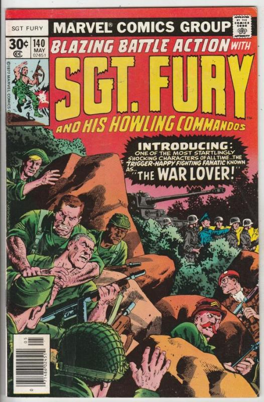 Sgt. Fury and His Howling Commandos #140 (May-77) NM- High-Grade Sgt. Fury, H...