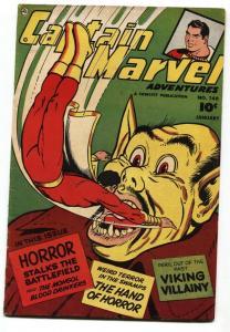 Captain Marvel Adventures #140 comic book Scarlet Vampire- Korean War VG-