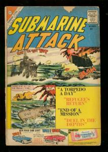 SUBMARINE ATTACK #24 1960-CHARLTON WAR COMICS-GLANZMAN G
