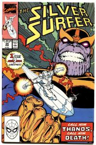 Silver Surfer #34 1990 Infinity Gauntlet Thanos Marvel