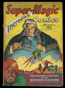 SUPER-MAGIC COMICS V.1 #1 1941-BLACKSTONE-CAPT THUNDER- VG-