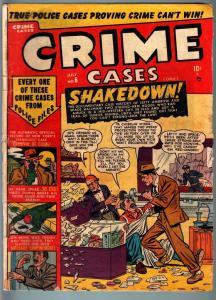 CRIME CASES #6-PRE CODE VIOLENT CRIME & MURDER-SHAKEDOWN-GIRL FIGHT-F/G FR/G