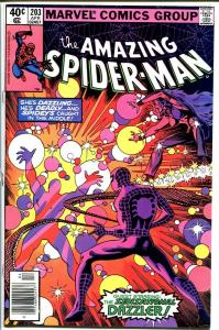AMAZING SPIDER-MAN #203-1980-DAZZLER-MARVEL--very fine/near mint VF/NM